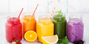 Smoothies, juices, beverages, drinks variety